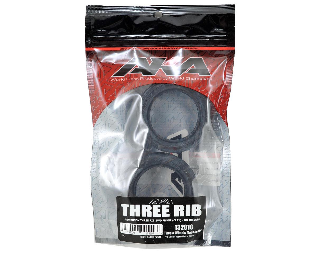 "AKA Three Rib 2.2"" Front 2WD Buggy Tires (2) (Clay)"