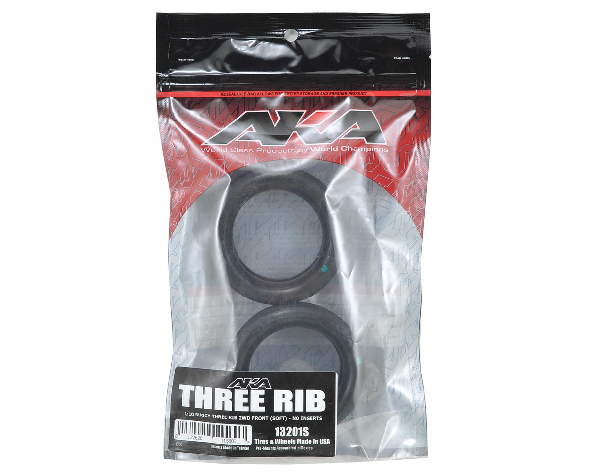 "AKA Three Rib 2.2"" Front 2WD Buggy Tires (2) (Soft)"