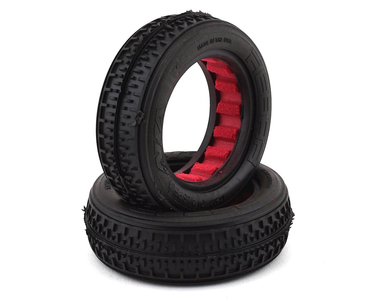 "AKA Rebar 2.2"" Front 2WD Buggy Tires w/Red Insert (2) (Super Soft)"