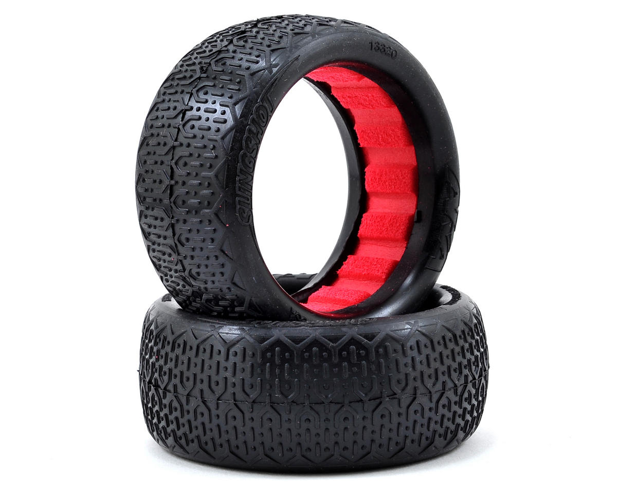 """EVO"" Typo Front 4WD Buggy Tires (2) (Clay) by AKA"