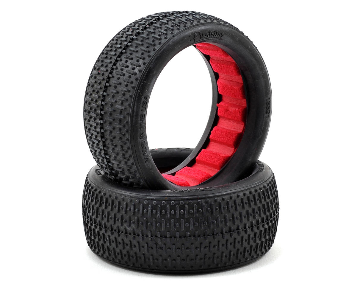 """AKA """"EVO"""" Pin Stripe Front 4WD Buggy Tires (2) (Soft)"""