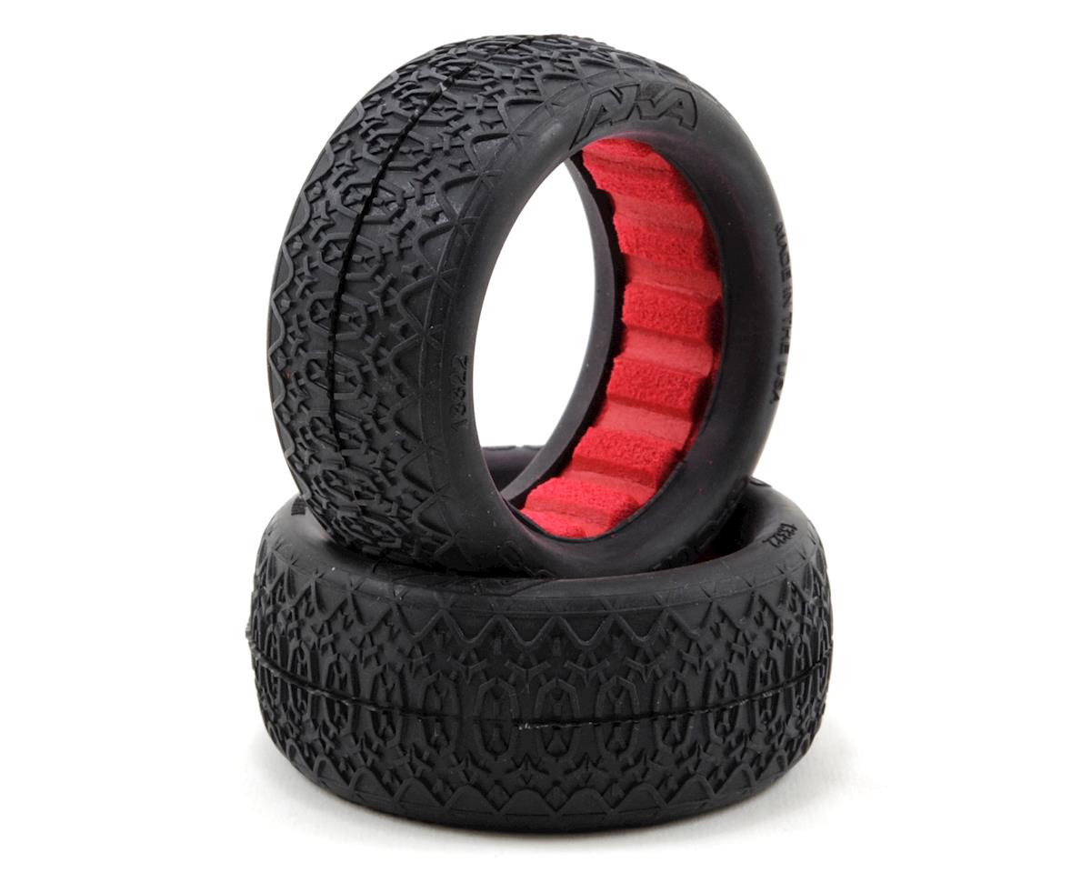 """AKA """"EVO"""" Chain Link Front 4WD Buggy Tires (2) (Clay)"""