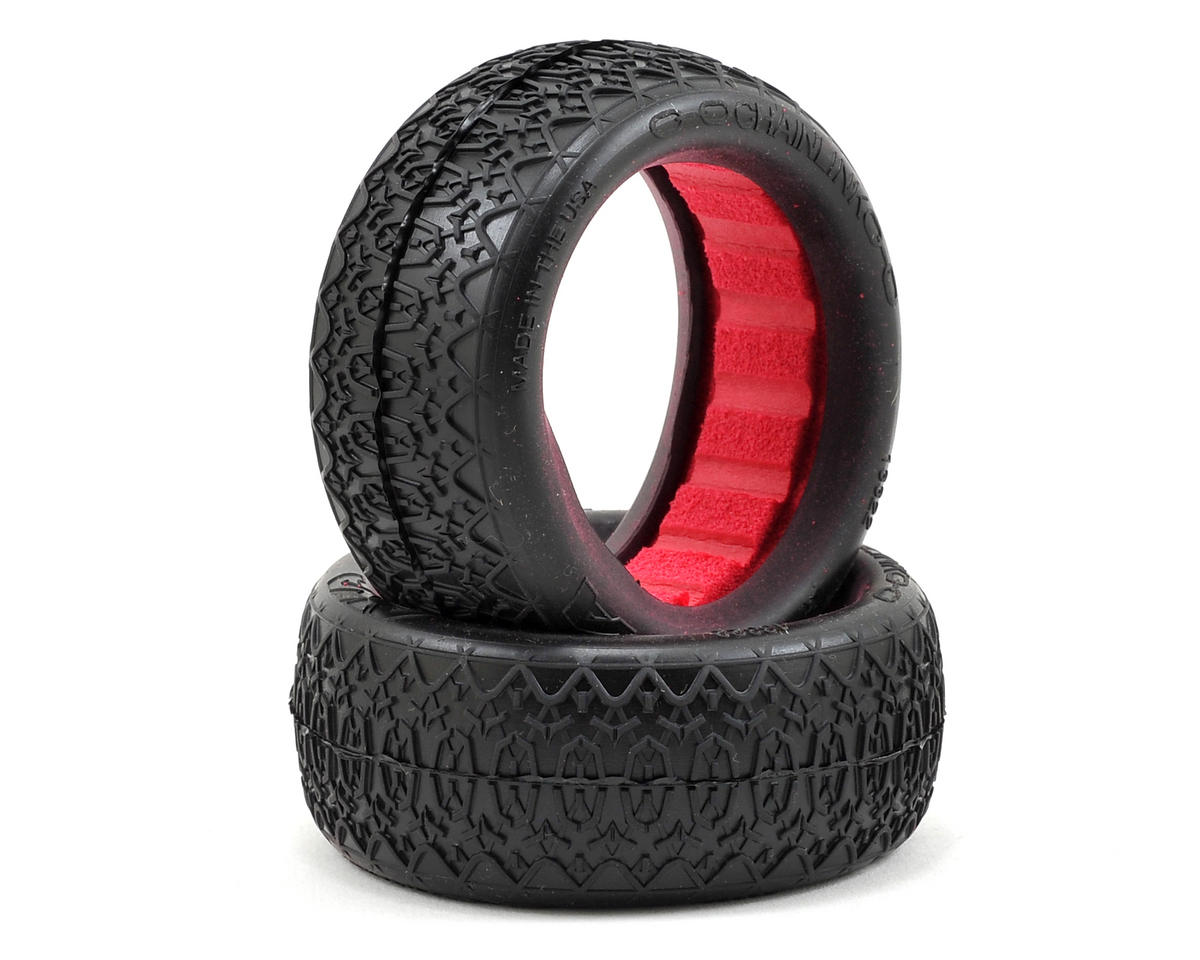 "AKA ""EVO"" Chain Link Front 4WD Buggy Tires (2) (Soft)"