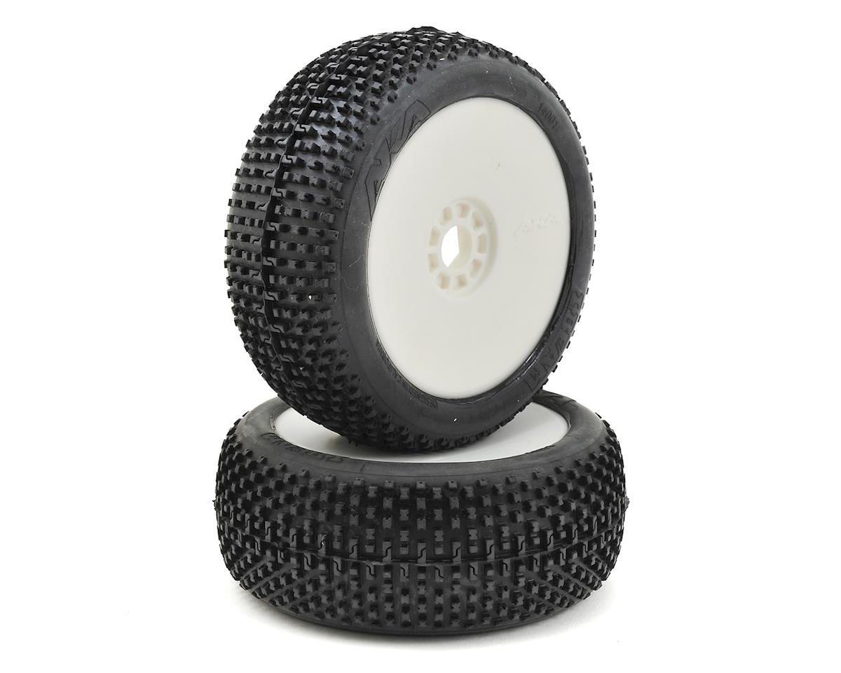 AKA I-Beam 1/8 Buggy Pre-Mounted Tires (2) (White) (Super Soft - Long Wear)