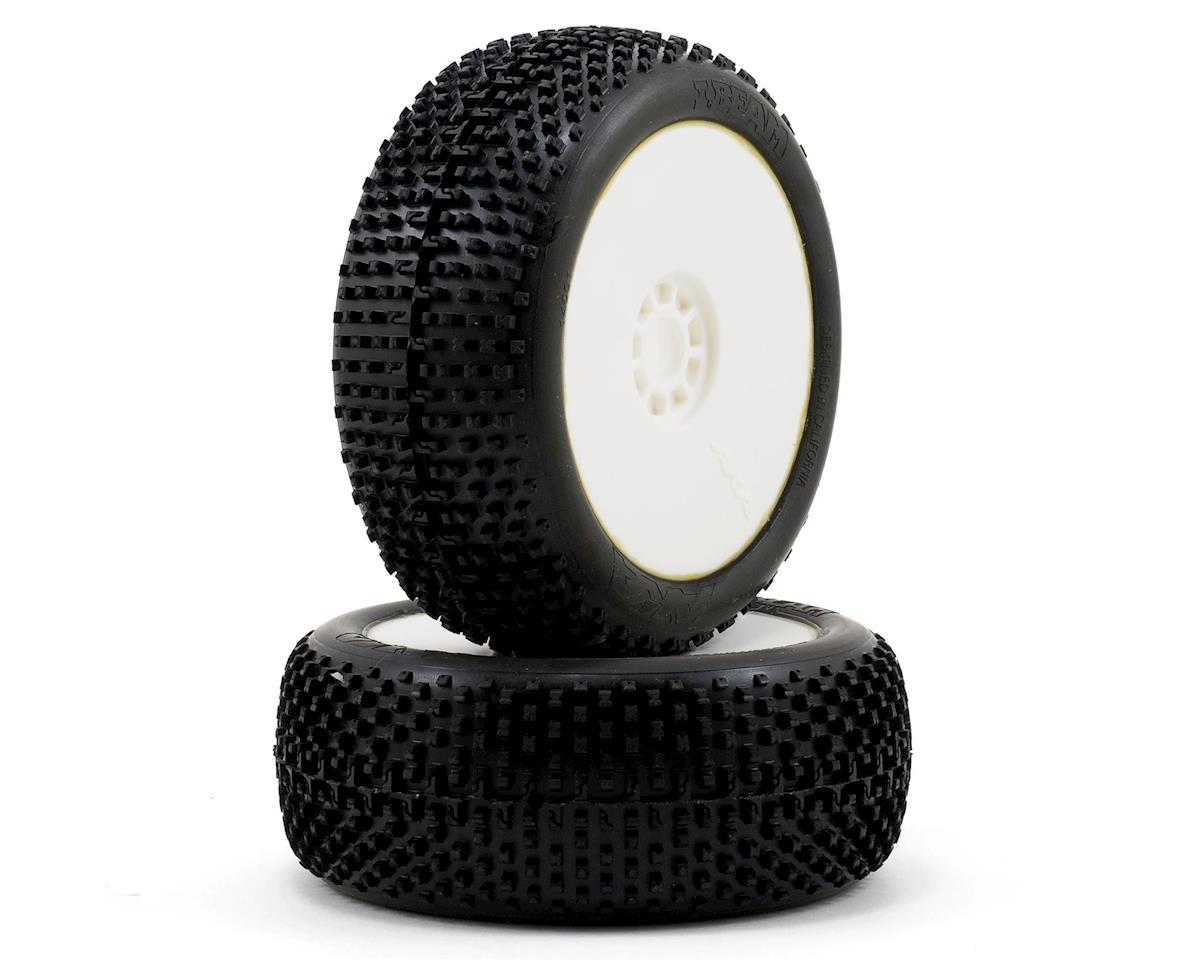 AKA I-Beam 1/8 Buggy Pre-Mounted Tires (2) (White) (Super Soft)