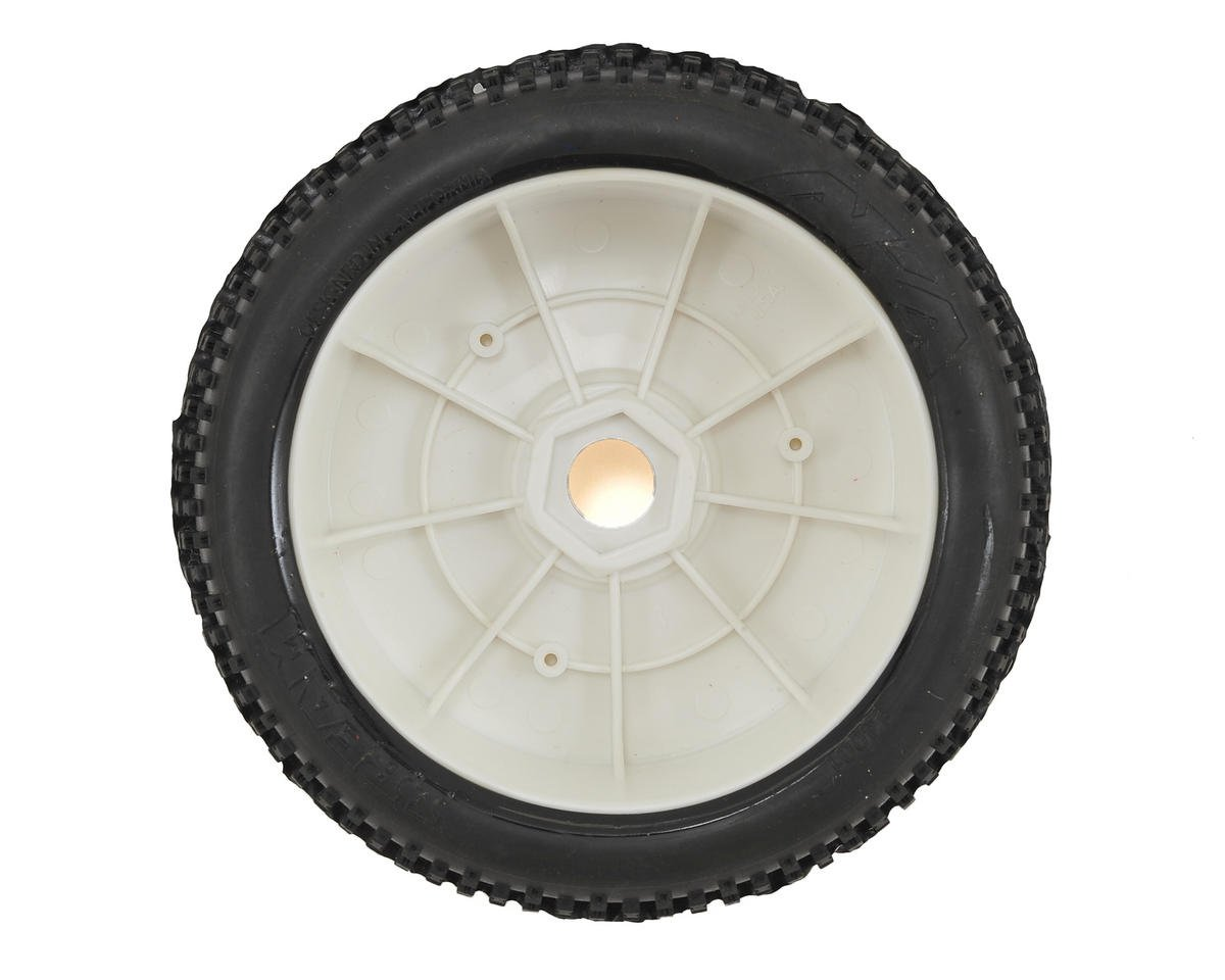AKA I-Beam 1/8 Buggy Pre-Mounted Tires (2) (White) (Medium - Long Wear)
