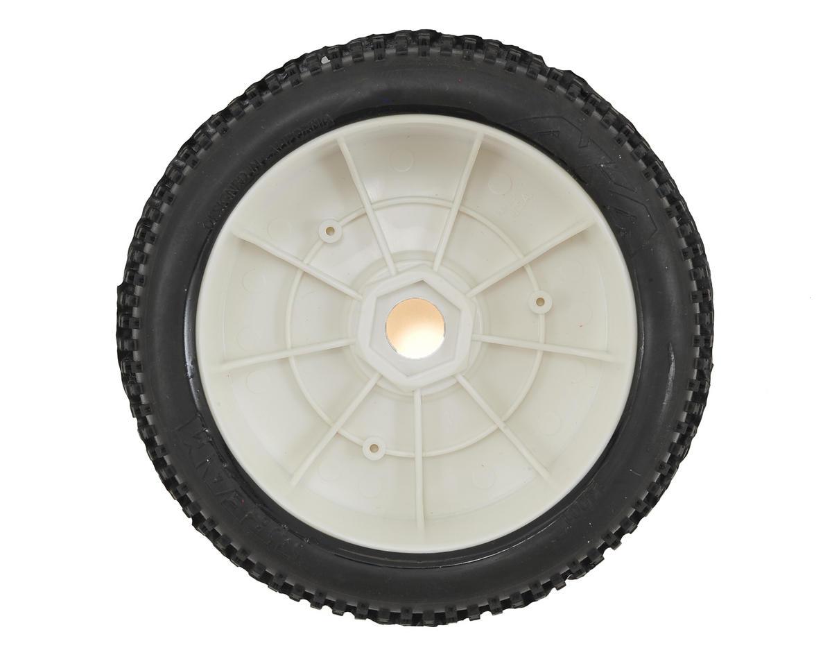 AKA I-Beam 1/8 Buggy Pre-Mounted Tires (2) (White) (Medium - Long Wear)