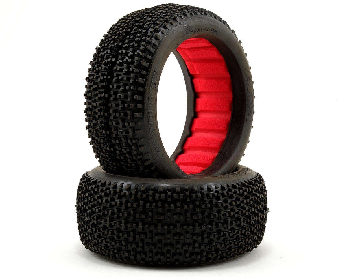 AKA Cityblock 1/8 Buggy Tires (2) (Medium - Long Wear)