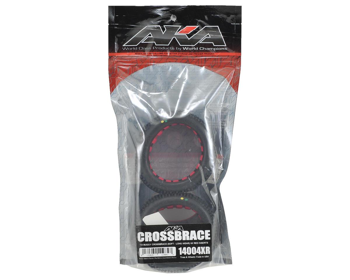 Cross Brace 1/8 Buggy Tires (2) (Soft - Long Wear) by AKA