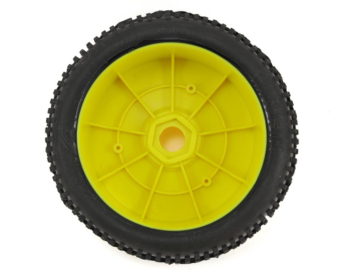 AKA Cross Brace 1/8 Buggy Pre-Mounted Tires (2) (Yellow) (Soft - Long Wear)