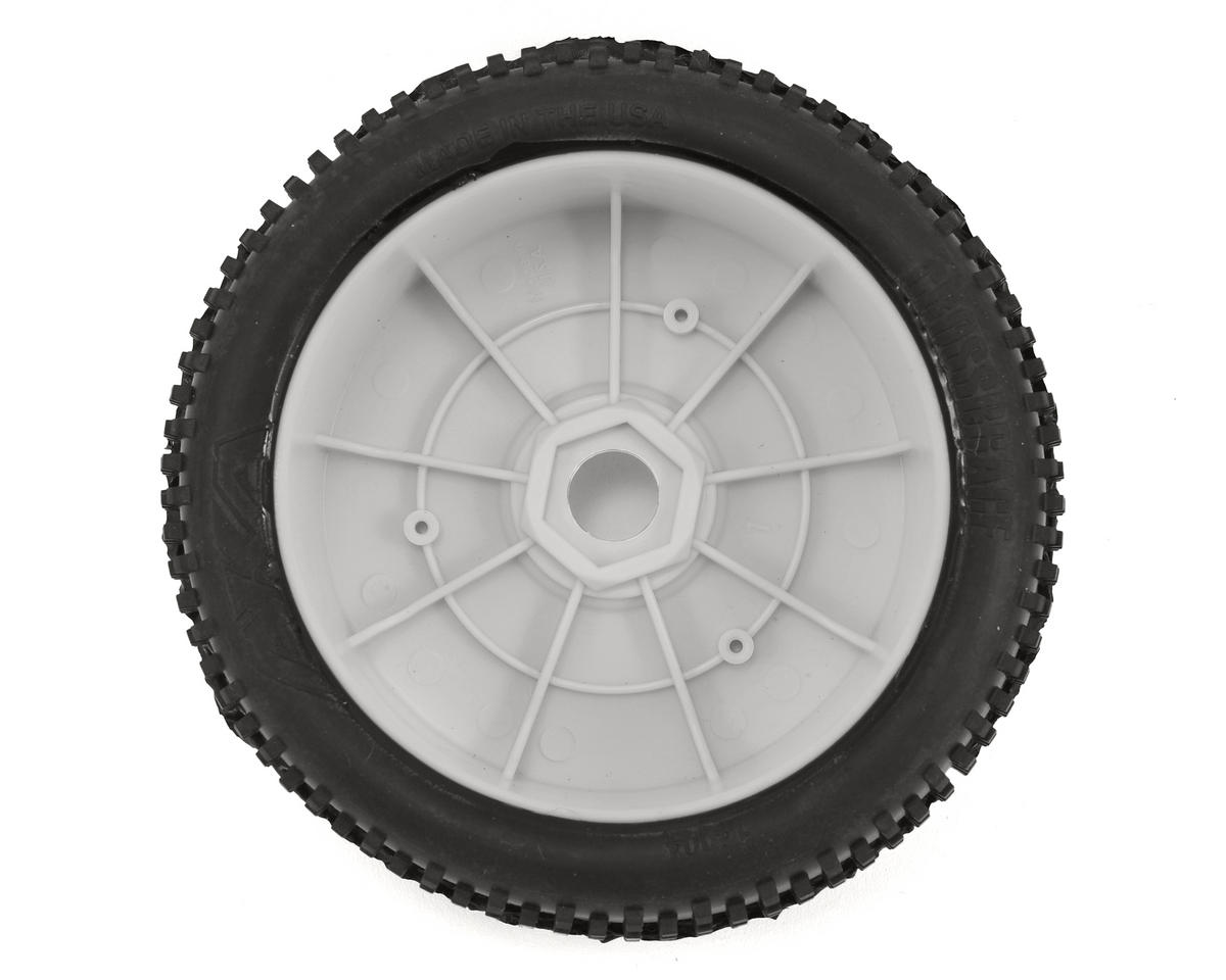 AKA Cross Brace 1/8 Buggy Pre-Mounted Tires (2) (White) (Medium - Long Wear)