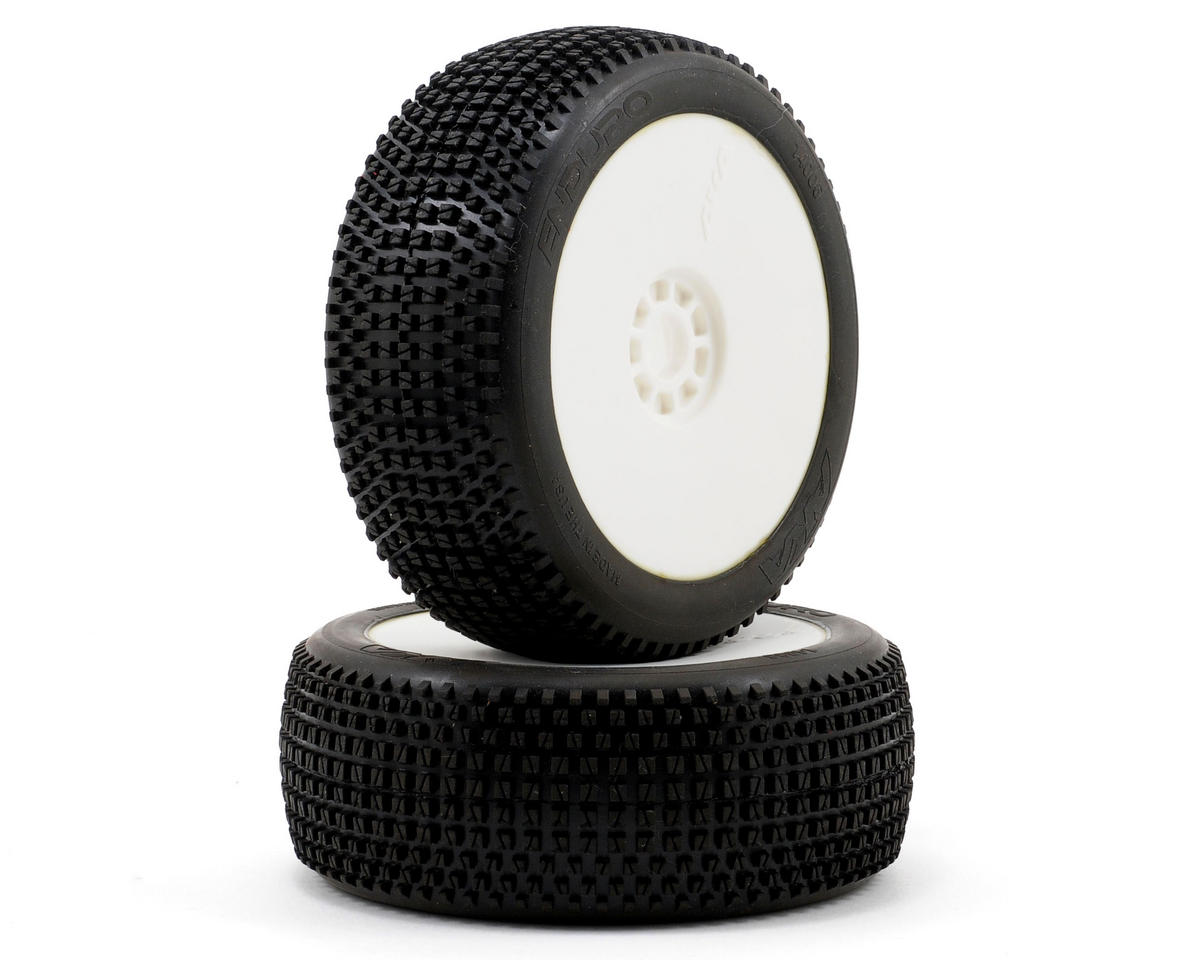 Enduro 1/8 Buggy Pre-Mounted Tires (2) (White) (Soft) by AKA