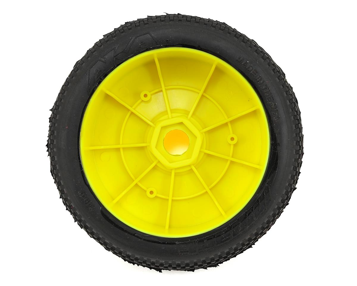 AKA Impact 1/8 Buggy Pre-Mounted Tires (2) (Yellow) (Super Soft - Long Wear)