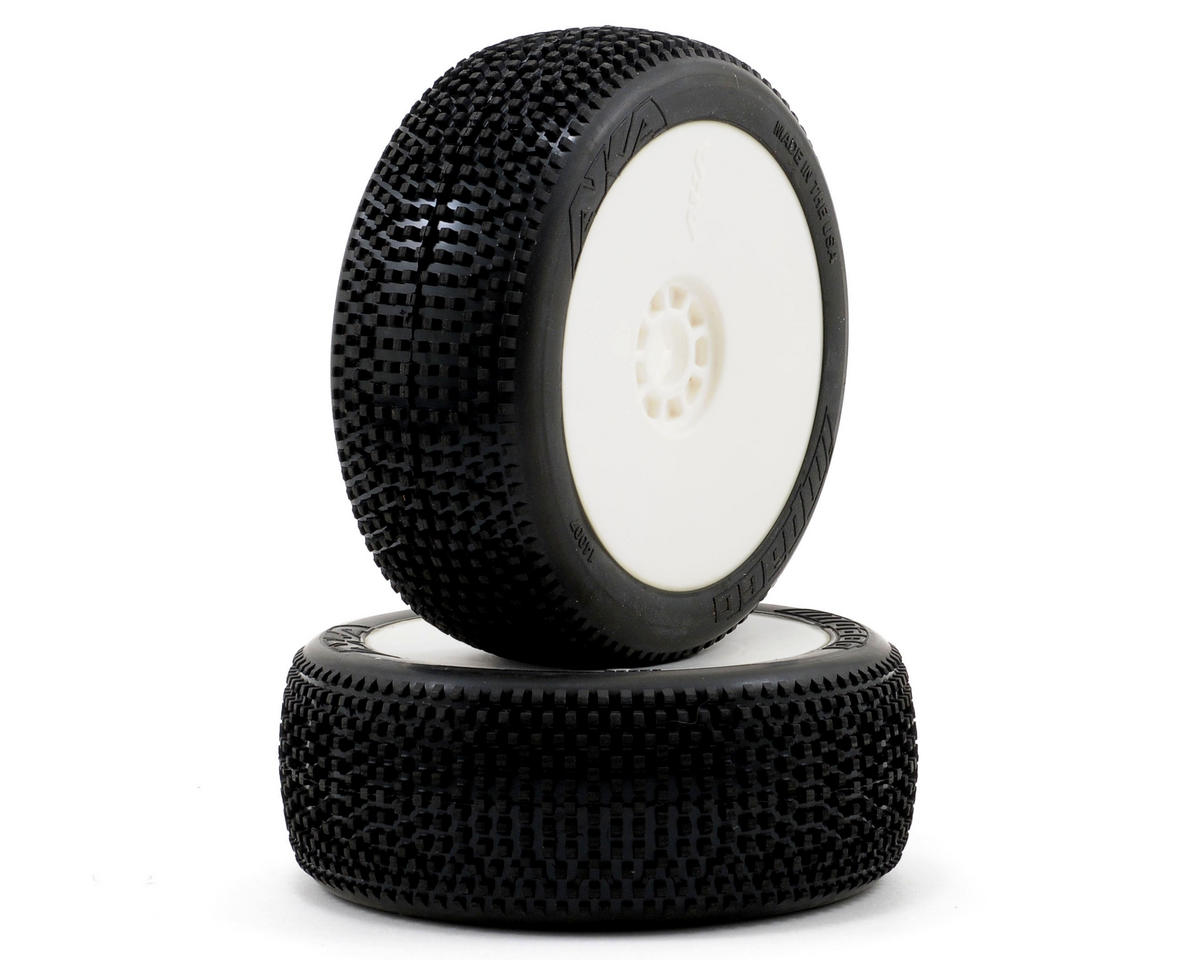 AKA Impact 1/8 Buggy Pre-Mounted Tires (2) (White) (Soft)