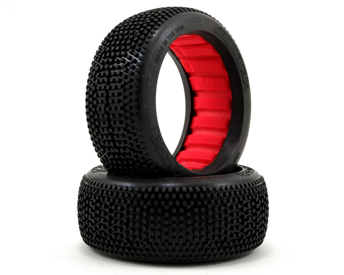 Impact 1/8 Buggy Tires (2) (Super Soft) by AKA