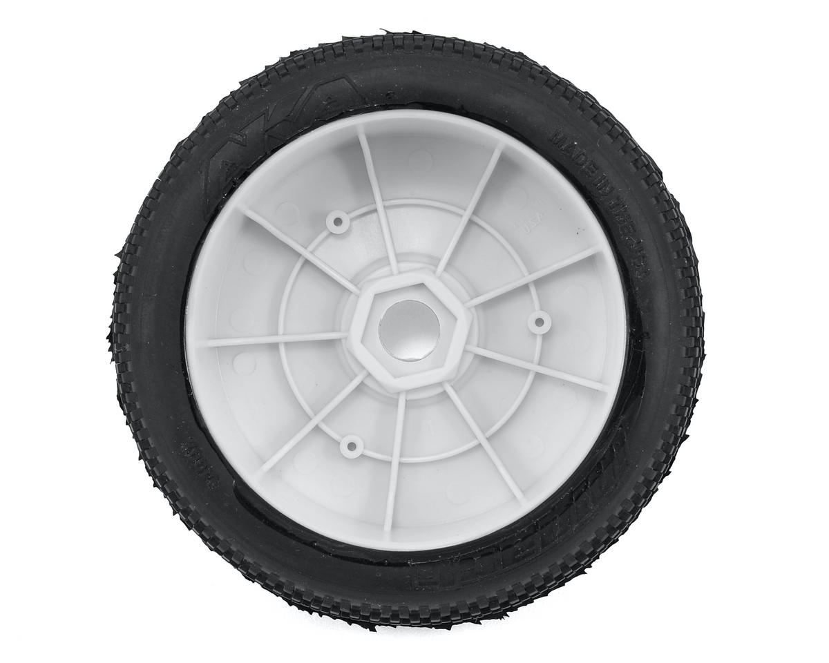 AKA Impact 1/8 Buggy Pre-Mounted Tires (2) (White) (Medium - Long Wear)