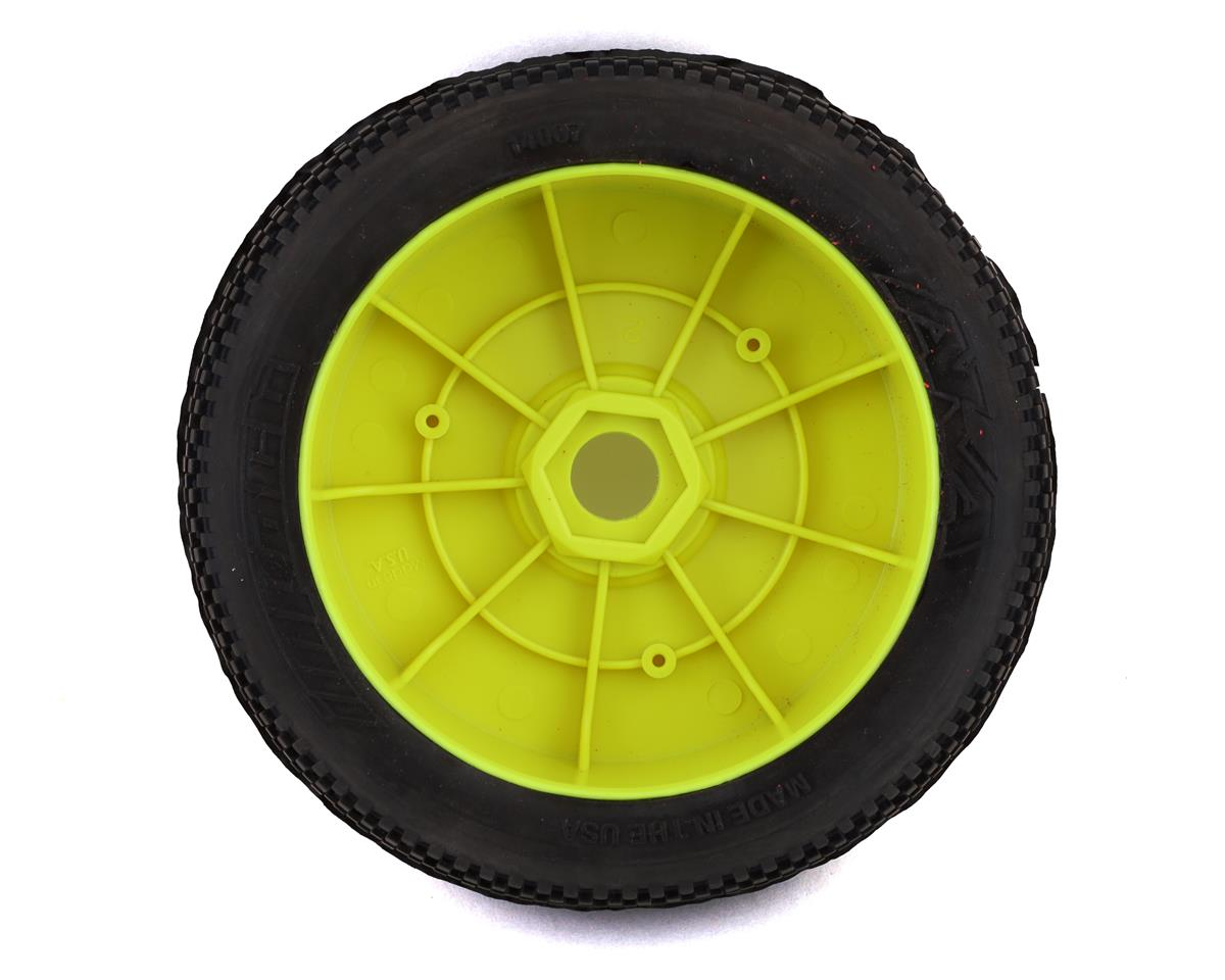 AKA Impact 1/8 Buggy Pre-Mounted Tires (2) (Yellow) (Medium - Long Wear)