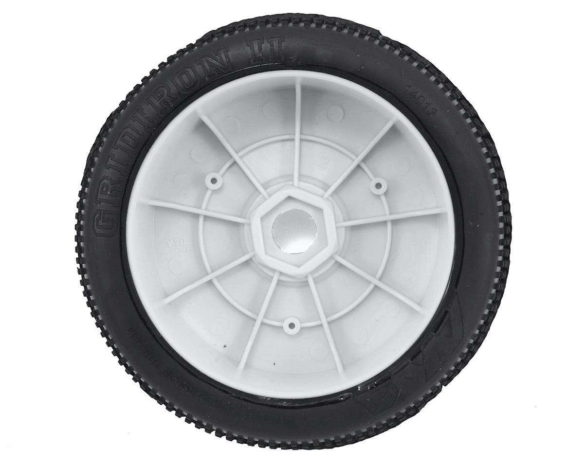 AKA Gridiron II 1/8 Buggy Pre-Mounted Tires (2) (White) (Super Soft - Long Wear)