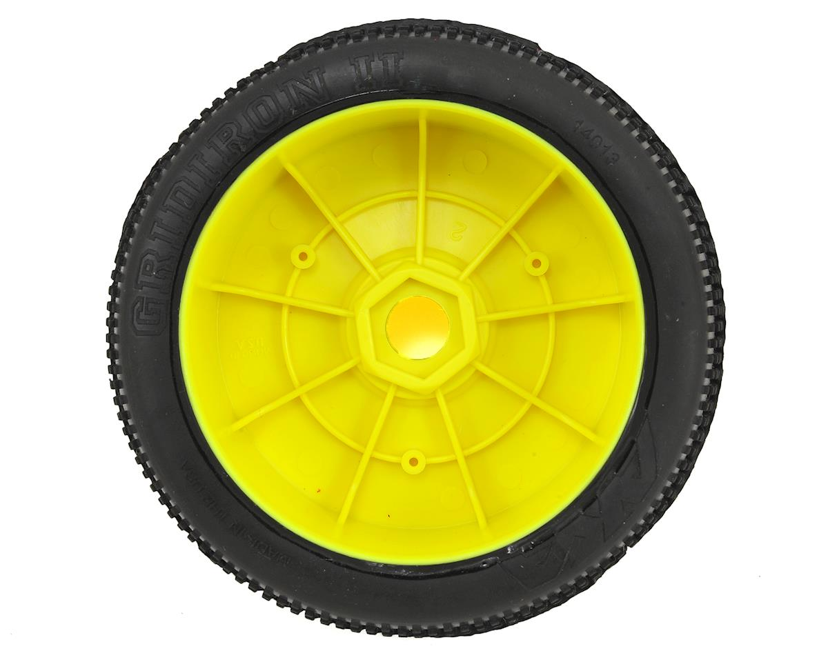 AKA Gridiron II 1/8 Buggy Premounted Tires (2) (Yellow) (Super Soft - Long Wear)
