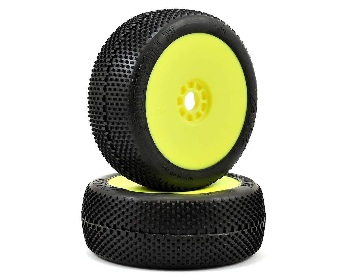 AKA Gridiron II 1/8 Buggy Premounted Tires (2) (Yellow) (Super Soft)