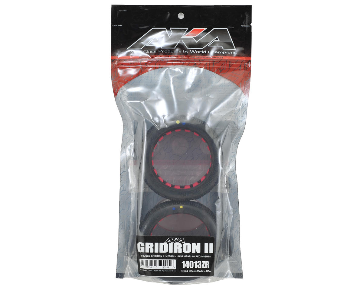 AKA Gridiron II 1/8 Buggy Tires (2) (Medium - Long Wear)