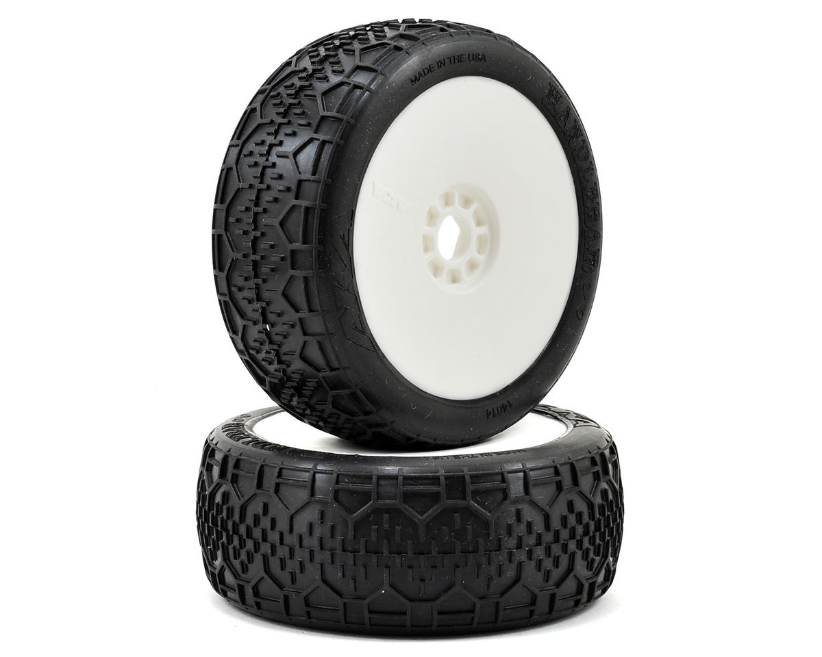 AKA Handlebar 1/8 Buggy Pre-Mounted Tires (2) (White) (Super Soft)