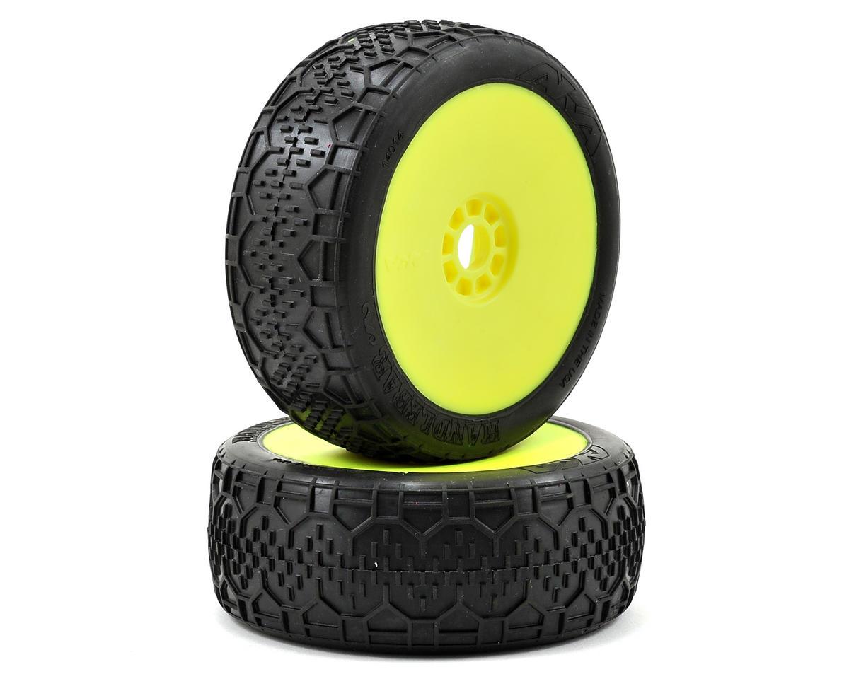 AKA Handlebar 1/8 Buggy Pre-Mounted Tires (2) (Yellow) (Super Soft)