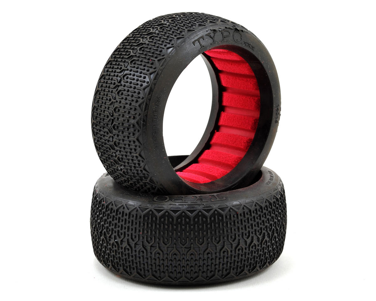 AKA Typo 1/8 Buggy Tires (2) (Clay)