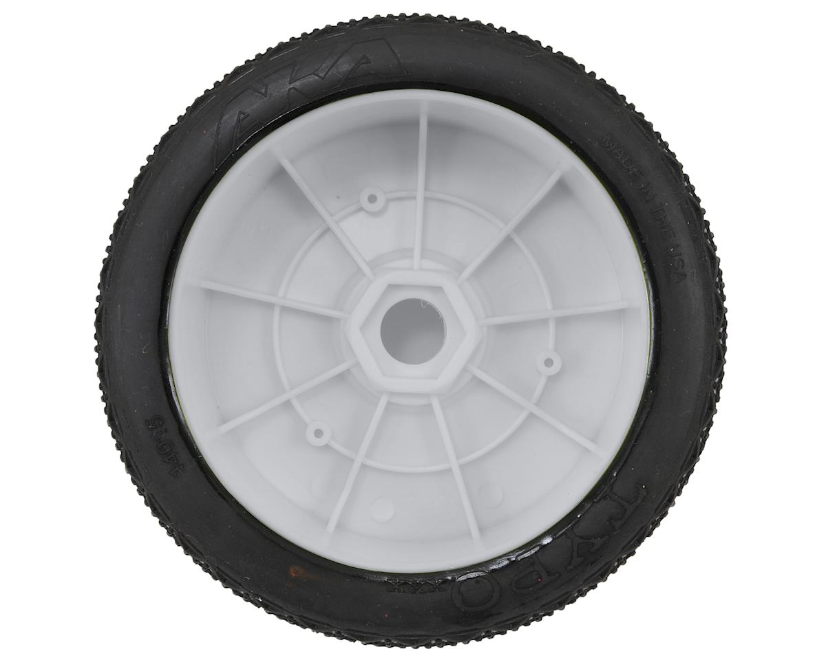 AKA Typo 1/8 Buggy Pre-Mounted Tires (2) (White) (Clay)