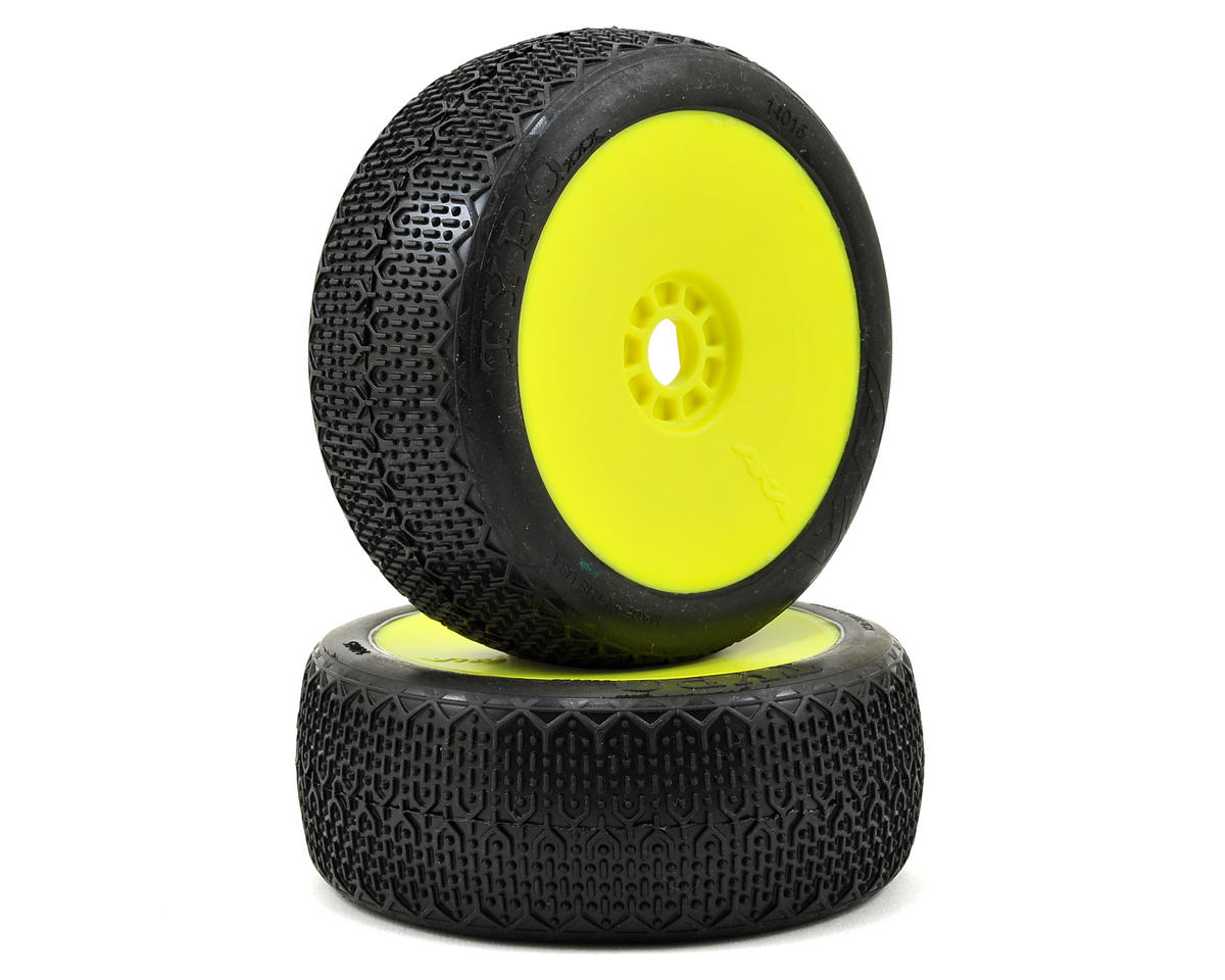 AKA Typo 1/8 Buggy Pre-Mounted Tires (2) (Yellow) (Soft)