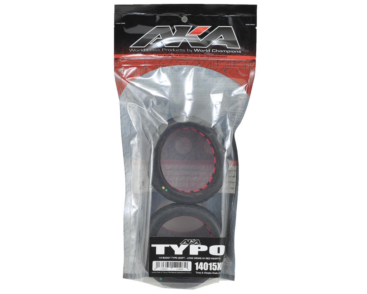 AKA Typo 1/8 Buggy Tires (2) (Soft - Long Wear)