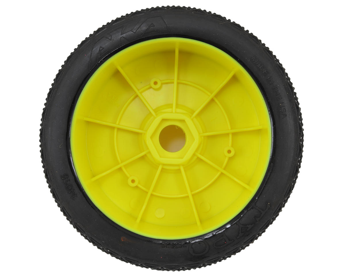 Typo 1/8 Buggy Pre-Mounted Tires (2) (Yellow) (Soft - Long Wear) by AKA