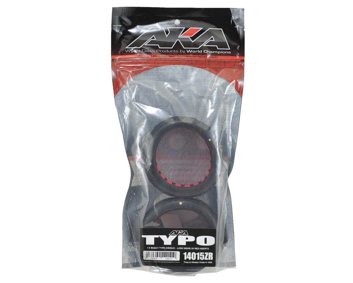AKA Typo 1/8 Buggy Tires (2) (Medium - Long Wear)