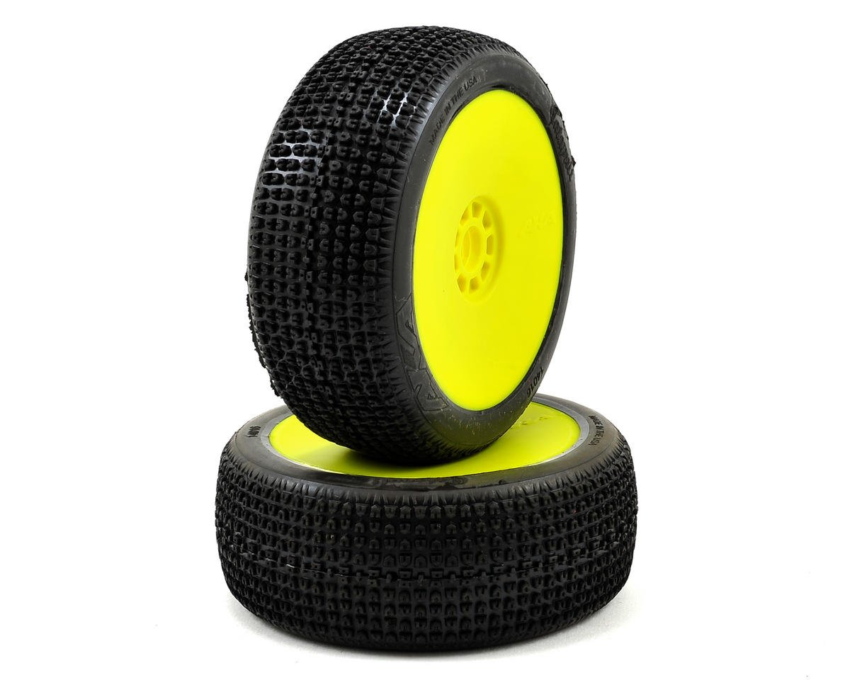 AKA Catapult 1/8 Buggy Pre-Mounted Tires (2) (Yellow)