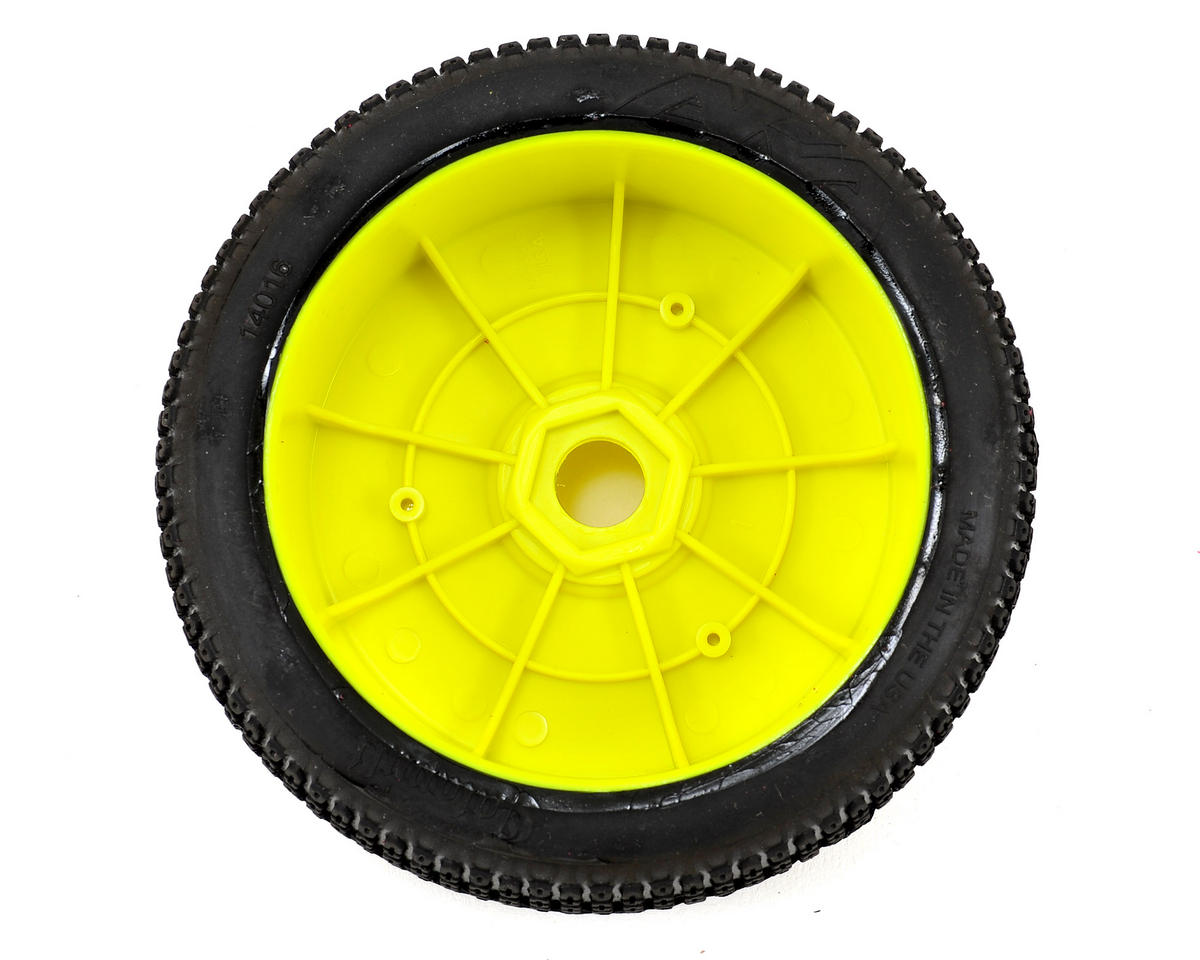 AKA Catapult 1/8 Buggy Pre-Mounted Tires (2) (Yellow) (Soft)