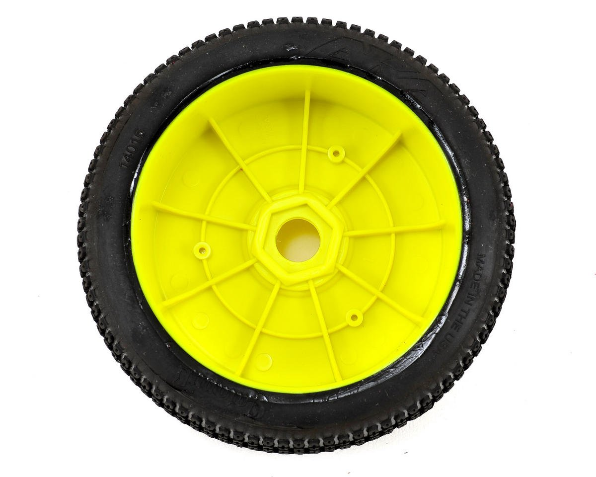 AKA Catapult 1/8 Buggy Pre-Mounted Tires (2) (Yellow) (Super Soft)
