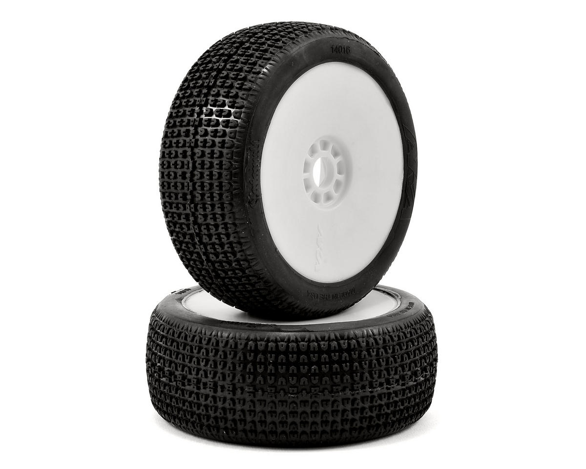 AKA Catapult 1/8 Buggy Pre-Mounted Tires (2) (White) (Soft - Long Wear)