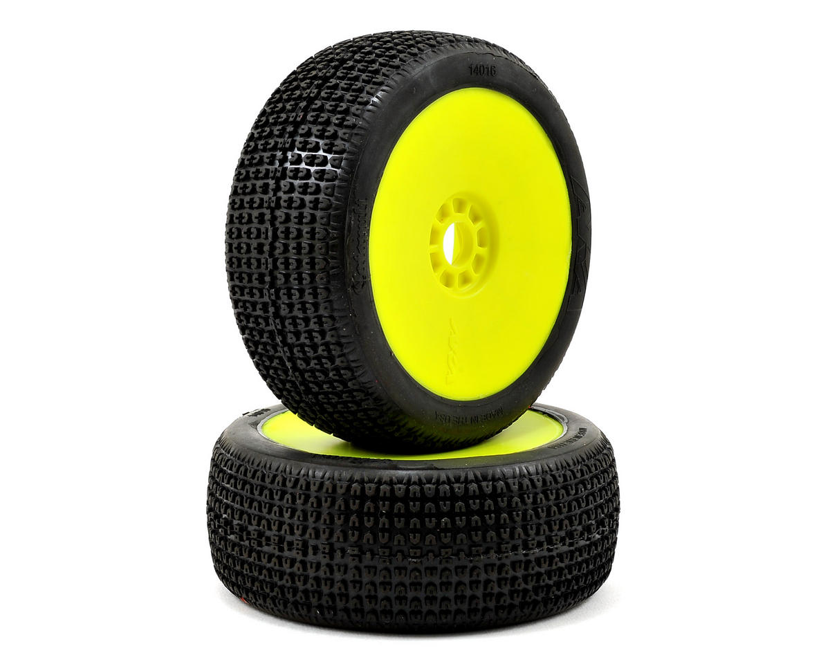 AKA Catapult 1/8 Buggy Pre-Mounted Tires (2) (Yellow) (Soft - Long Wear)