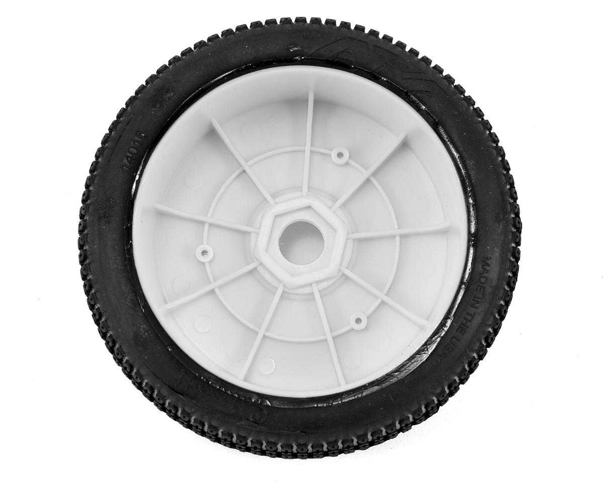 AKA Catapult 1/8 Buggy Pre-Mounted Tires (2) (White) (Medium - Long Wear)