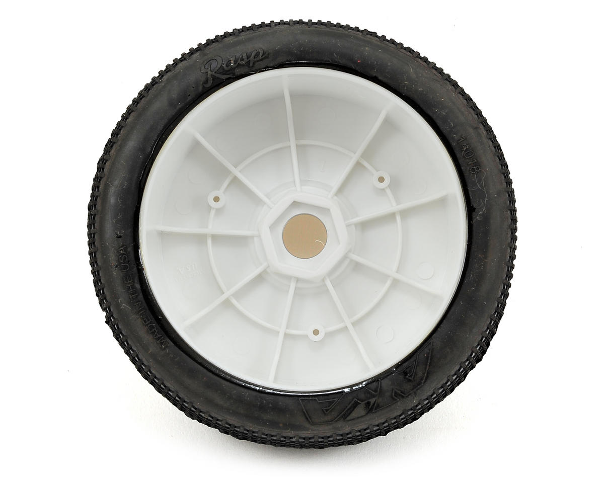 AKA Rasp 1/8 Buggy Pre-Mounted Tires (2) (White) (Soft)