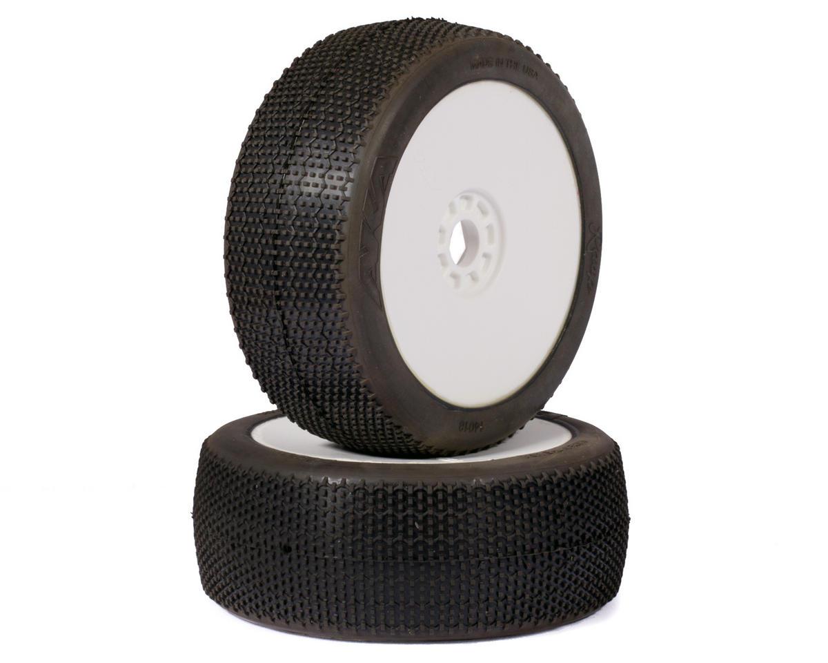 AKA Rasp 1/8 Buggy Pre-Mounted Tires (2) (White) (Super Soft)