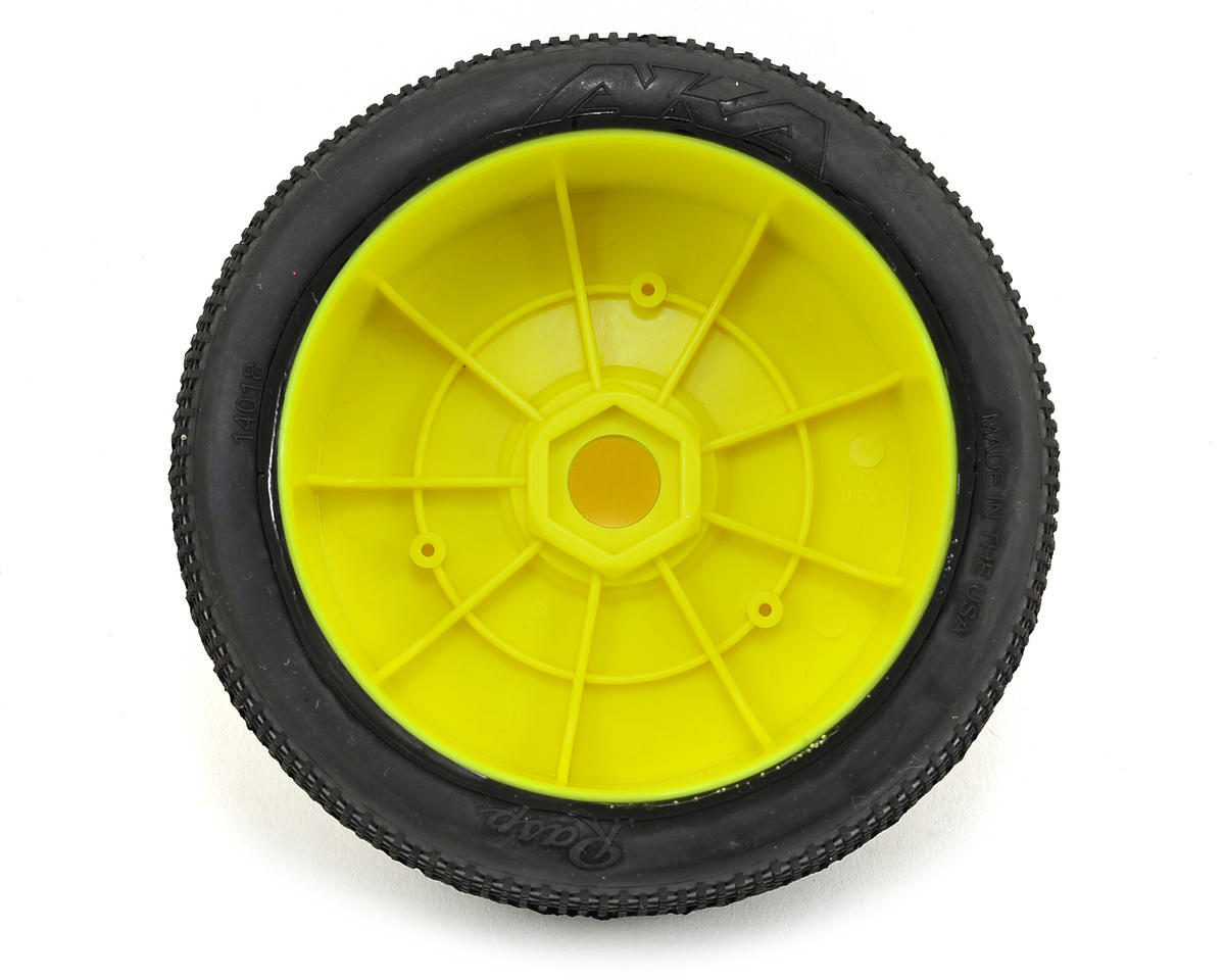 AKA Rasp 1/8 Buggy Pre-Mounted Tires (2) (Yellow) (Super Soft)