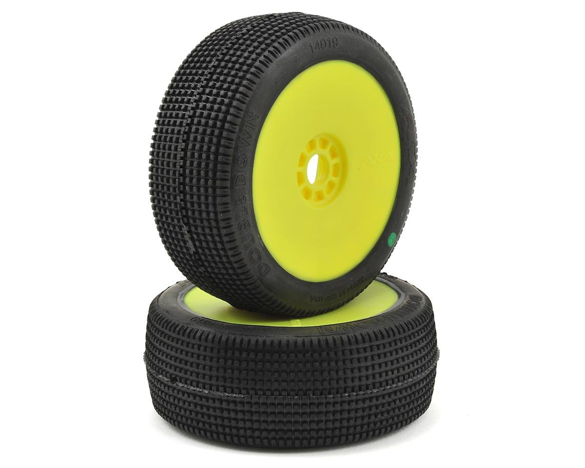 AKA Double Down 1/8 Buggy Pre-Mounted Tires (2) (Yellow) (Soft)