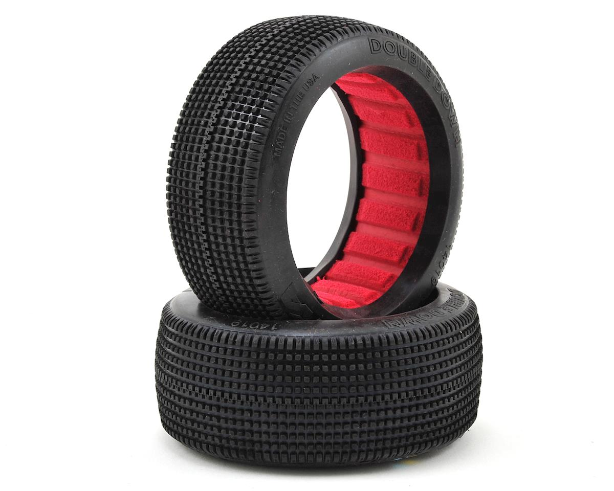 AKA Double Down 1/8 Buggy Tires (2) (Medium - Long Wear)