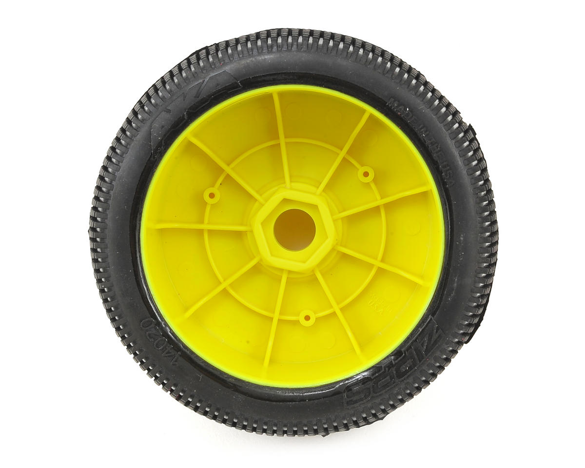 AKA EVO Zipps 1/8 Buggy Pre-Mounted Tires (2) (Yellow) (Super Soft)