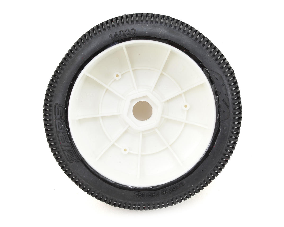 AKA EVO Zipps 1/8 Buggy Pre-Mounted Tires (2) (White) (Soft - Long Wear)