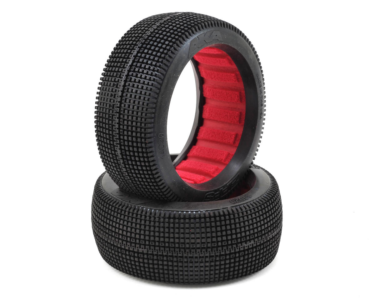 AKA Zipps 1/8 Buggy Tires (2) (Medium - Long Wear)