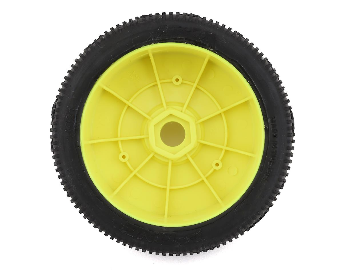 AKA P1 1/8 Buggy Pre-Mounted Tires (2) (Yellow) (Super Soft - Long Wear)