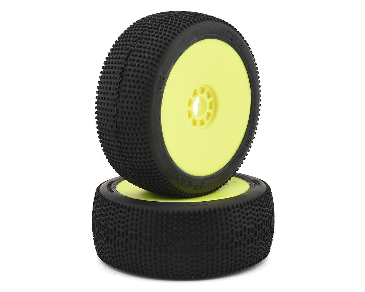 AKA P1 1/8 Buggy Pre-Mounted Tires (2) (Yellow) (Soft)