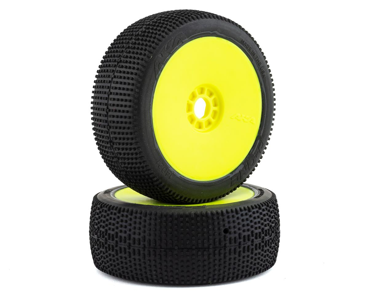 AKA P1 1/8 Buggy Pre-Mounted Tires (2) (Yellow) (Soft - Long Wear)
